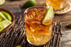 Dark and Stormy Rum Cocktail Stock Photography