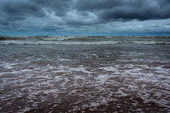Dark stormy sea Stock Images
