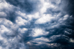 Dark stormy sky Stock Images