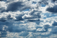 Dark stormy sky with cloud background Royalty Free Stock Photography