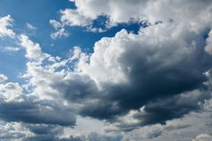 Dark stormy sky with clouds royalty free stock photos