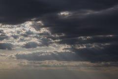 Dark stormy sky Stock Images
