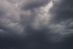 Dark Stormy Sky. Dark storm clouds obscuring the sky stock images