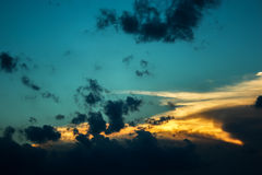Dark stormy sky before the sunset Royalty Free Stock Photography