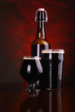 Dark stout beer Stock Images