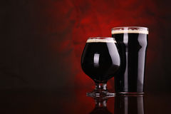 Dark stout beer Stock Image