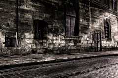 Dark street Royalty Free Stock Image