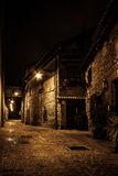 Dark street in the night Royalty Free Stock Photography