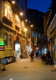 Dark street in night - Turkey Stock Image