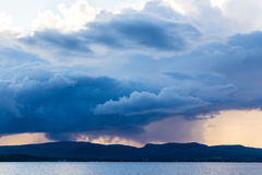 Dark strom cloud over mountain Stock Photo