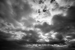 Dark Strom Clouds Royalty Free Stock Photos