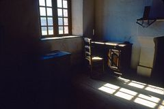 Dark study fort louisbourg Stock Photos