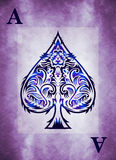 Dark Style Ace of spades. Vintage style with dirty grunge elements. Copy space vector illustration