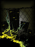 Dark style city banner. Dark style city background for your text Royalty Free Stock Photography
