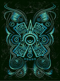 Dark Stylized Mayan symbol - tattoo Stock Photography