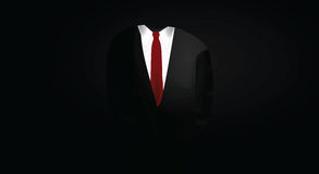 Dark suit. Business man suit in dark Royalty Free Stock Image