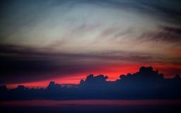 Dark sunrise sky Stock Photos