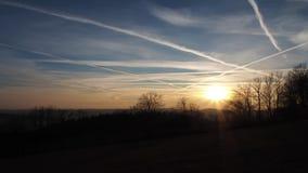 Dark Sunset Timelapse. Central Europe stock footage