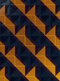 Dark surface with a pattern of orange panels. 3d rendering. Dark abstract surface with a pattern of orange panels. 3d rendering Stock Photography