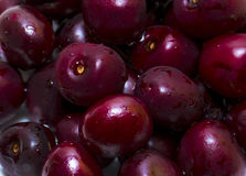 Dark sweet cherries. Dark red cherry full frame Royalty Free Stock Photos