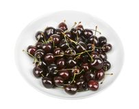 Dark sweet cherries Stock Images