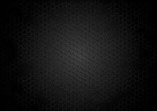 Dark tech background with hexagons Royalty Free Stock Image