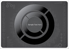 Dark technical design. With abstract circle elements Royalty Free Stock Image