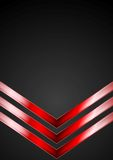 Dark technology background with red arrows. Vector design Royalty Free Stock Images