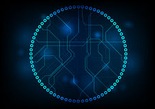 Dark technology circuit board vector design Stock Photography