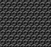 Dark technology pattern. Light and dark grey shapes three dimensional pattern Royalty Free Stock Photography