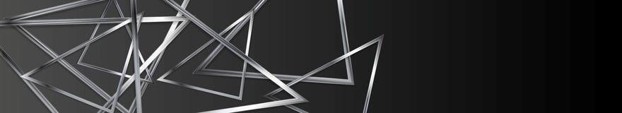 Dark technology web header banner design Royalty Free Stock Images