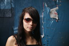 Dark teen portrait Stock Photo