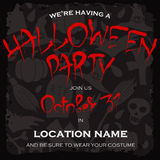 Dark template for Halloween party. Royalty Free Stock Photos