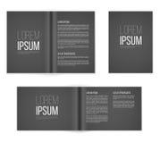 A4 dark templates. Paper page a4 format dark templates. Vector illustration stock illustration