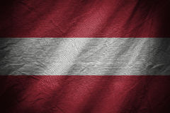 Dark textile background or texture with blending  Austria flag Royalty Free Stock Photos
