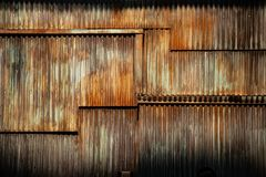 Free Dark Texture Corrugated Metal Background, Surface Of The Rusted Steel, Slum Wall Decayed Area Royalty Free Stock Images - 161637259