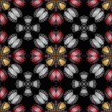 Dark texture with metallic filigree patterns Stock Photos
