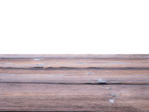 Dark textured wooden planks parallel background isolated on whit Stock Photography