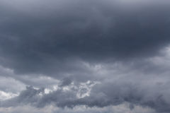 Dark thunderstorm clouds Stock Photography