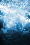 Dark thunderstorm with lightening Royalty Free Stock Photo