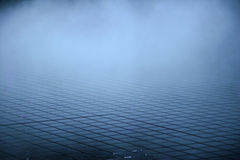 Dark tile and fog Royalty Free Stock Image