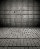 Dark Tiled Room Stock Images