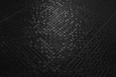 Dark tiles mosaic pattern Royalty Free Stock Photo
