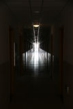 Dark to light corridor. Dark to light long inside corridor Stock Image