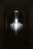 Dark to light corridor stock image