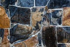 Dark tone granite wall Stock Image
