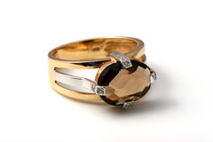 Dark topaz ring Stock Image