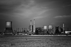 Dark toxic industrial chemical site Stock Image