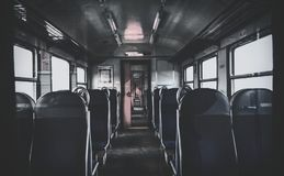 Dark train stock images