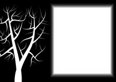 Dark Tree Paper. Letter Paper with dark theme. White tree and text area Stock Image